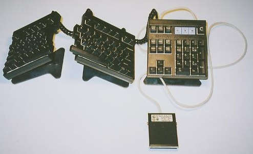 Foot Pedal Keyboard Accessory Shown - Use it for macros, recurrent tasks or insertion of data, copy, text, etc!